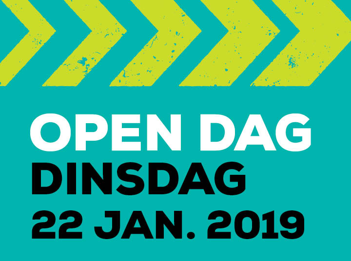 Kom 22 januari naar onze open dag!